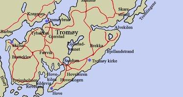 kart over tromøya Tromøy kart over tromøya